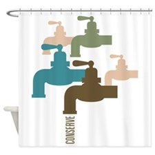 Faucet Conserve Shower Curtain