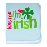 Kiss Me I'm Irish baby blanket