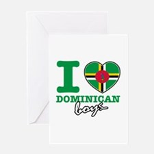 I love Dominican boys Greeting Card