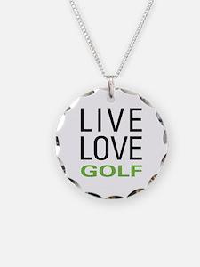 Live Love Golf Necklace