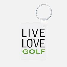 Live Love Golf Keychains