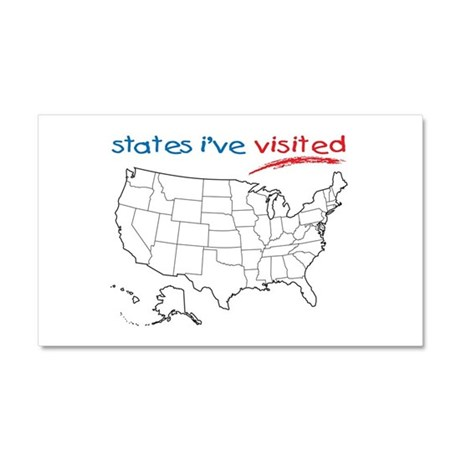 States I've Been To Car Magnet 20 x 12