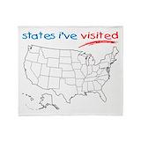 50 states Fleece Blankets