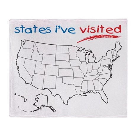 States I Ve Been To Throw Blanket By Statesivebeento