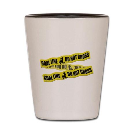 Lacrosse Crime Tape Shot Glass
