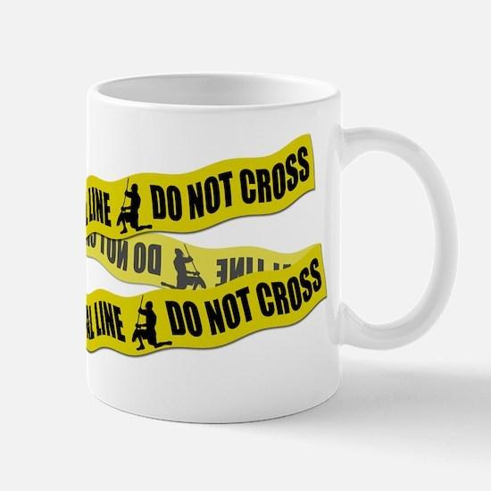 Lacrosse Crime Tape Mug