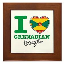 I love Grenadian boys Framed Tile