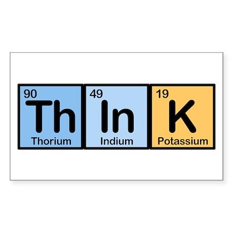 Think Elements Sticker (Rectangle)