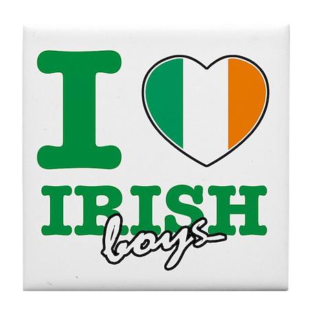 I love Irish boys Tile Coaster