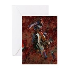 Barrel Racing Greeting Card
