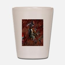 Barrel Racing Shot Glass