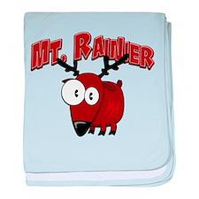 Mt. Rainier Elk baby blanket