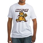 ANGRY CAT Fitted T-Shirt