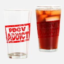 PBGV ADDICT Drinking Glass