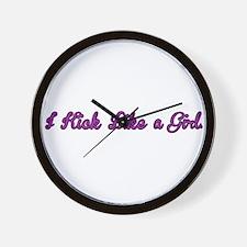 I Kick Like a Girl Wall Clock