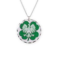 Irish Polish Heritage Necklace Circle Charm