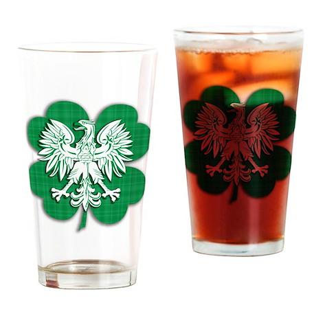 Irish Polish Heritage Drinking Glass