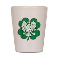 Irish Polish Heritage Shot Glass