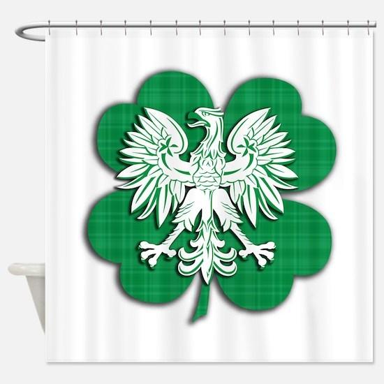Irish Polish Heritage Shower Curtain