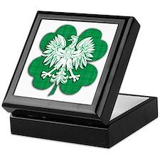 Irish Polish Heritage Keepsake Box