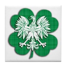 Irish Polish Heritage Tile Coaster