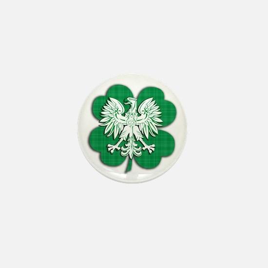 Irish Polish Heritage Mini Button