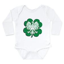 Irish Polish Heritage Long Sleeve Infant Bodysuit