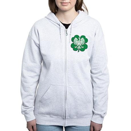 Irish Polish Heritage Women's Zip Hoodie