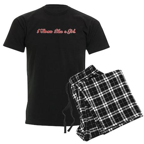 I Throw Like a Girl Men's Dark Pajamas