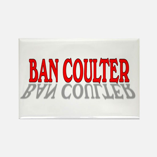 BAN COULTER Rectangle Magnet