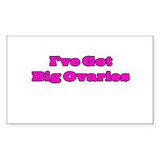 I've Got Big Ovaries Decal