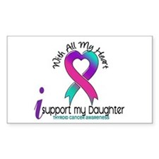 With All My Heart Thyroid Cancer Decal
