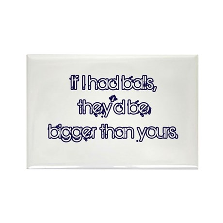 If I Had Balls Rectangle Magnet (100 pack)