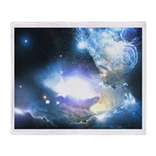 The Beautiful Outer Space Throw Blanket