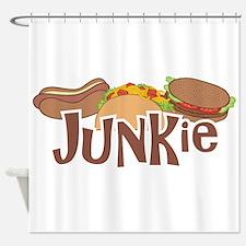 Fast Food Junkie Shower Curtain