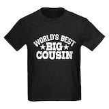 Worlds best big cousin Kids T-shirts (Dark)