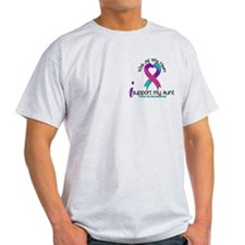 With All My Heart Thyroid Cancer T-Shirt