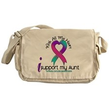 With All My Heart Thyroid Cancer Messenger Bag