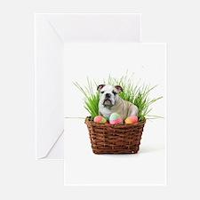 Easter bulldog Greeting Cards (Pk of 20)