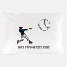 Baseball Player with Custom T Pillow Case