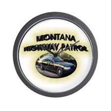 Montana Highway Patrol Wall Clock