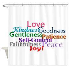 Fruit of the Spirit Shower Curtain