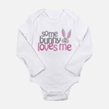 Some Bunny Loves Me Long Sleeve Infant Bodysuit