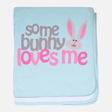 Some Bunny Loves Me baby blanket