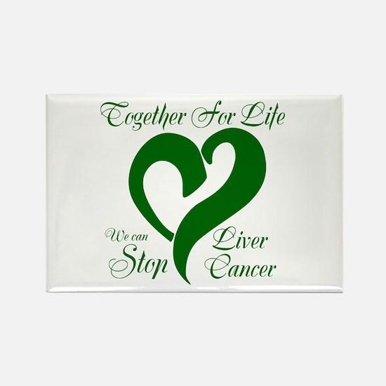 Stop Liver Cancer Rectangle Magnet