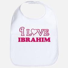 I Love Ibrahim Baby Bib