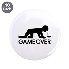 "Alcohol puke 3.5"" Button (10 pack)"