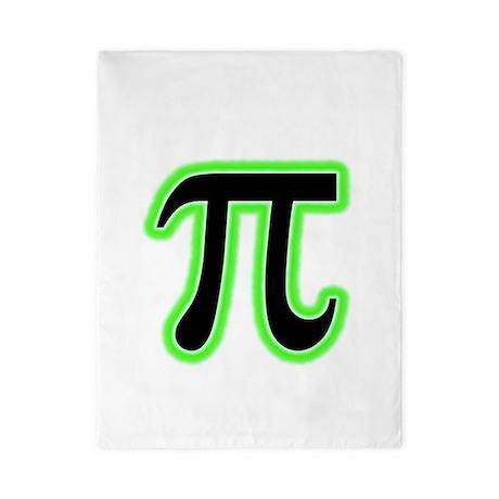 Green Glowing Pi Twin Duvet