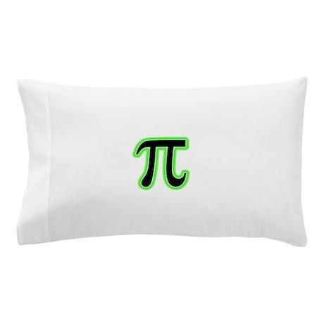 Green Glowing Pi Pillow Case
