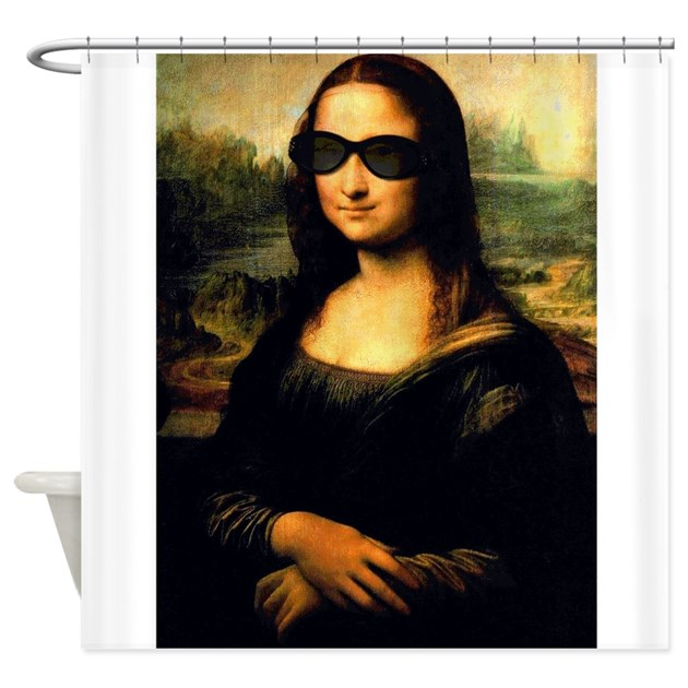 Mona lisa shower curtain by theartofvenus for Mona lisa shower curtain
